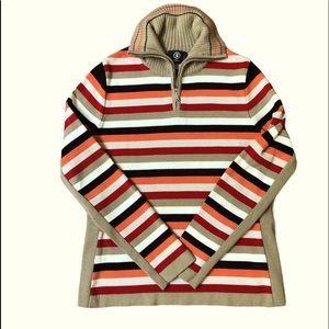 Bogner Ski Sweater Striped Size 10